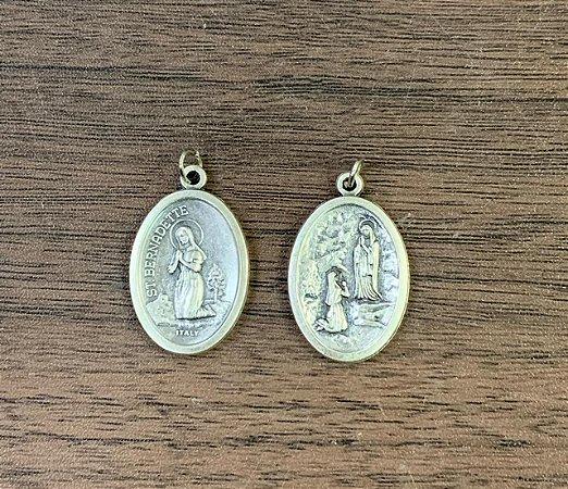Medalha Italiana Santa Bernadete / N. Sra. de Lourdes (8327)