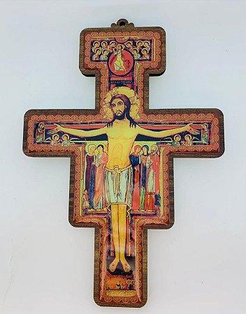 Cruz São Damião 24cm MDF Parede (8392)