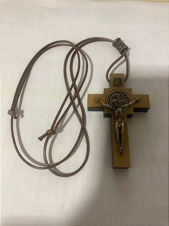 Cordão regulável com Cruz de madeira (5357)