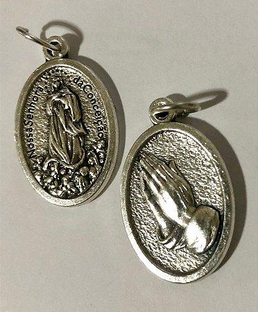 Medalha Italiana N. Sra. da Conceição / mãos (8327)