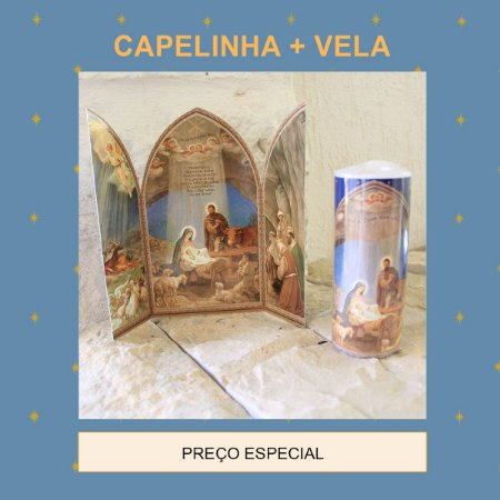 KIT DE NATAL 2 : CAPELINHA DE NATAL + VELA DE 7 DIAS