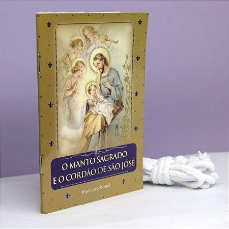 Devocionário O Manto Sagrado de São José + brinde cordão bento de São José- Instituto Hesed - 8096