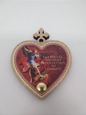 Porta terço coração - São Miguel (7222)