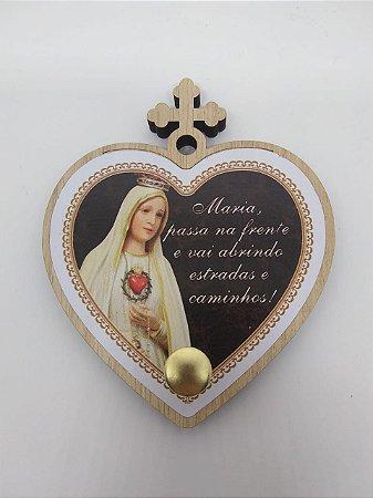 Porta terço coração - Maria passa na frete (7222)
