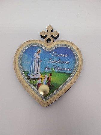 Porta terço coração - Nossa senhora de Fátima (7222)