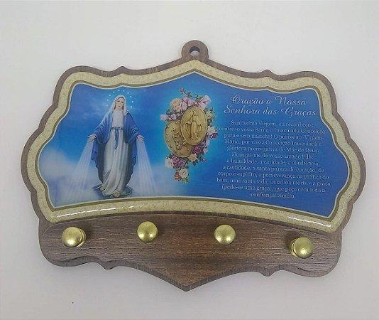 Porta chaves moldado - Nossa Senhora das Graças (5993)
