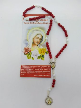 Terço das lagrimas de sangue de nossa senhora Rosa Mística (0129)