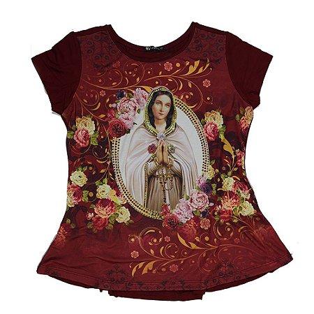Camiseta babylook bata Rosa Mística