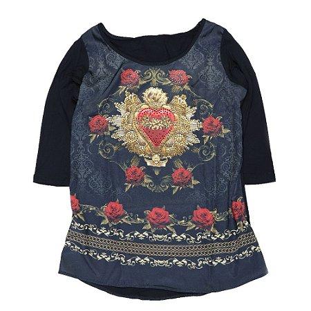 Camiseta manga 3/4 Imaculado Coração
