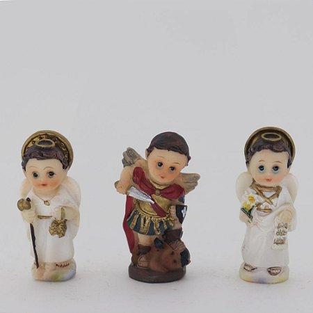 Trio mini Arcanjos 5 cm (7036)