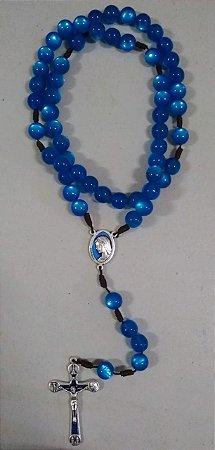 Terço Rainha da Paz - Azul - Hesed