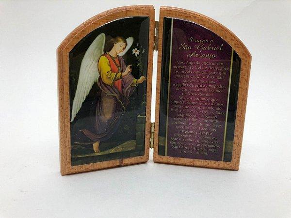 Capela de Madeira resinada 11 cm - São Gabriel (3730)