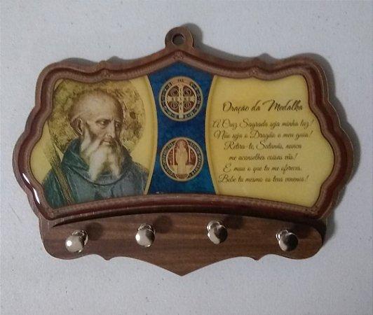 Porta chaves  moldado - São Bento (5993)