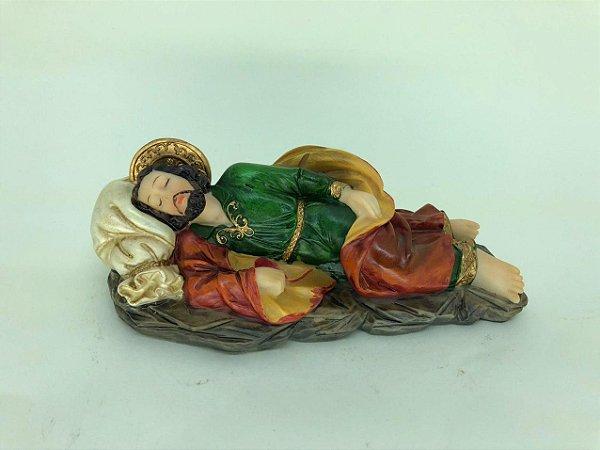 São José dormindo resina 17 cm (A9844)