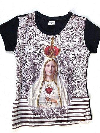 Camiseta Coração de Nossa Senhora de Fátima