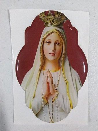 Adesivo resinado Nossa Senhora de Fátima (7947)