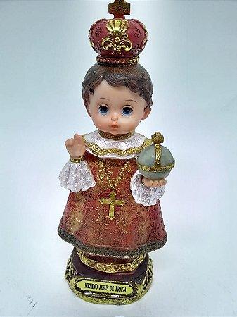 Menino Jesus de Praga bebe resina 20 cm (3770)