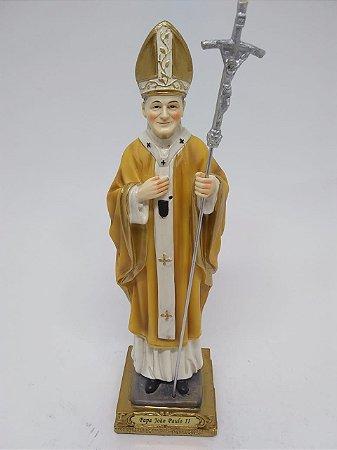 São João Paulo II (Papa) resina 20 cm