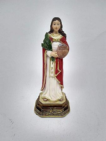 Santa Apolônia resina 17 cm