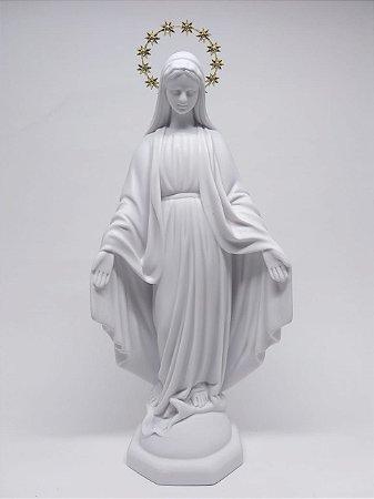 Nossa Senhora das Graças Branca resina 30 cm (6414)