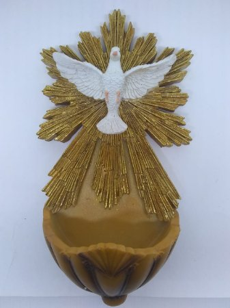 Pia para água benta em resina - Espírito Santo 25,4 cm (7661)