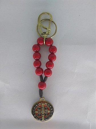 Chaveiro dezena vermelha São Bento (5799)