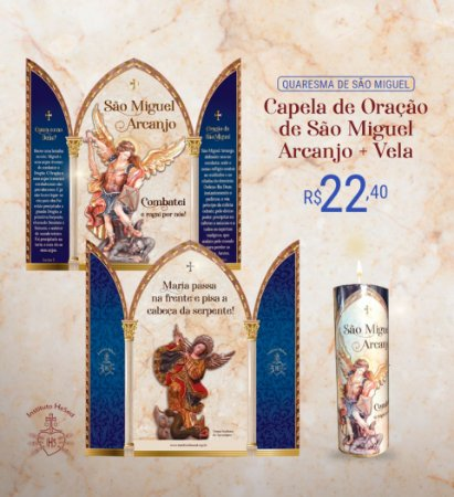 Combo 4: Capela de São Miguel + Vela votiva de São Miguel