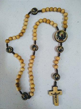 Terço Nossa Senhora do Rosário de Pompeia - Marfim (Hesed) -8142