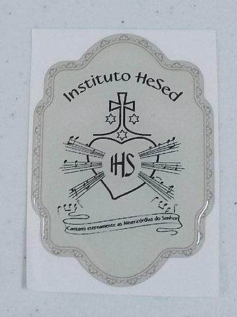 Adesivo Resinado Logo Instituto Hesed  8 x 5,5 cm