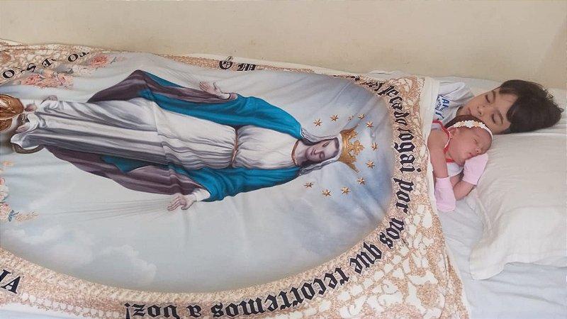 Manto de Nossa Senhora | Exército de São Miguel |Grande (1,10 x 1,50) - Instituto Hesed