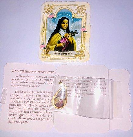 Lembrança com medalha Gota - Santa Teresinha (0092)