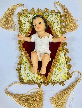 Menino Jesus de resina 12,4 cm com almofada (7881)