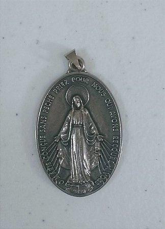 Medalha Nossa Senhora das Graças 45mm Niquel (5101)