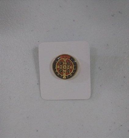 Boton São Bento resinado dourado colorido (1184)