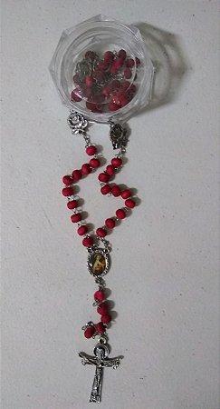 Terço perfumado 6mm com rosas Santa Teresinha (3385)