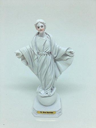 Nossa Senhora do Sorriso branca 12,5cm (8203)