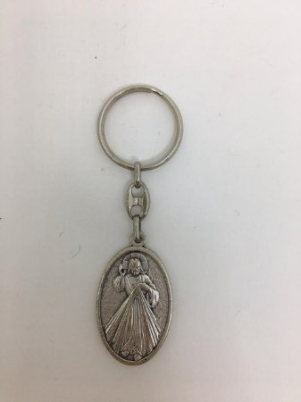 Chaveiro Frente/Verso - Jesus Misericordioso e Santa Faustina (0001)