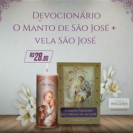 Combo 4  São José - Devocionário + Vela