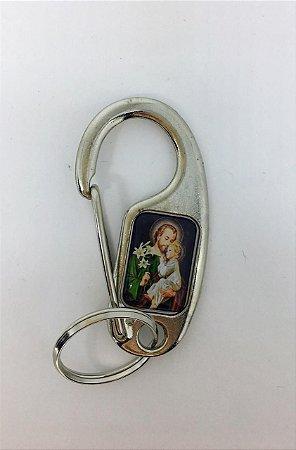 Chaveiro anzol resinado São José (8222)