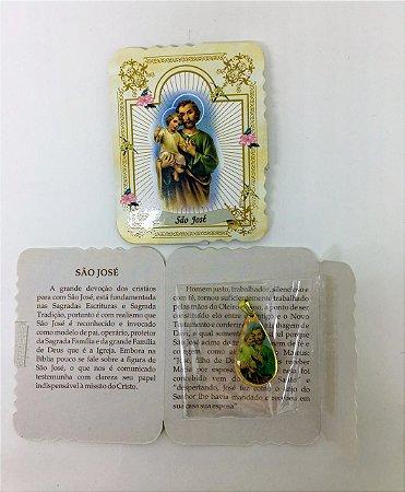 Lembrança com medalha Gota - São José (0092)