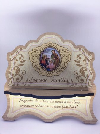 Porta Bíblia MDF - Sagrada Família (6330)