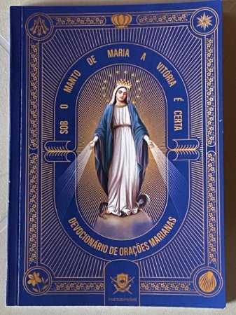 Sob o manto de Maria a vitória é certa - devocionário de Orações Marianas + brinde medalha milagrosa