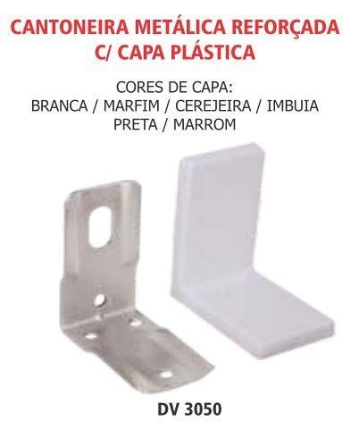 Cantoneira metalica reforçada com capa plastica