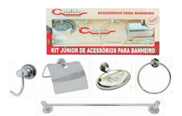 Kit etander de acessorios para banheiro