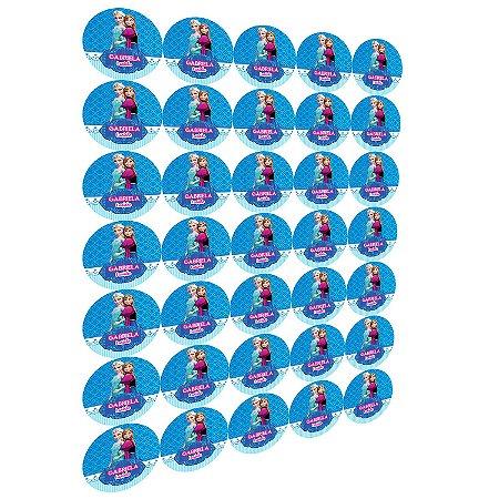 Cartela com 100 adesivos 5x5cm redondos
