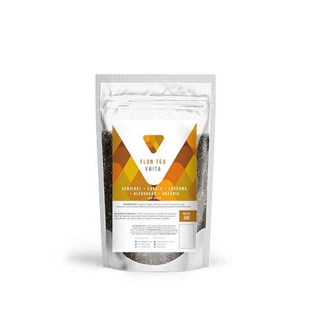 Flon Tea - Chá de Gengibre, Canela, Cúrcuma, Alfavacão e Uncária (50g)