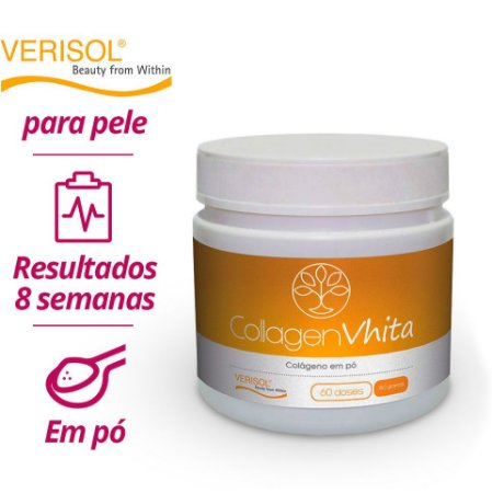 Colágeno Hidrolisado VERISOL em pó: Collagen Vhita - Peptídeos bioativos para pele
