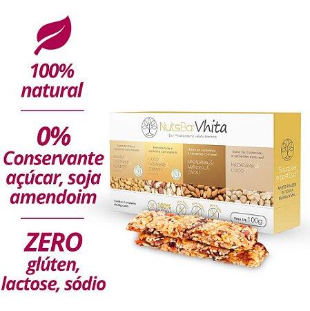 NutsBar - Barrinhas de nuts deliciosas e 100% naturais (25g / barrinha)