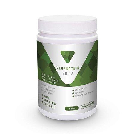 Proteína Vegana - VegProtein Vhita - Proteína isolada do arroz e concentrada da ervilha (450g)
