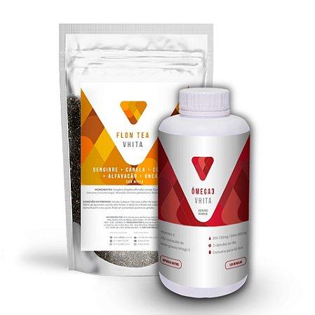 Combo Anti-inflamatório: Ômega 3 com alta concentração + Flon Tea (15% OFF)
